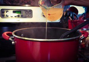 Adding chicken broth to Italian chili