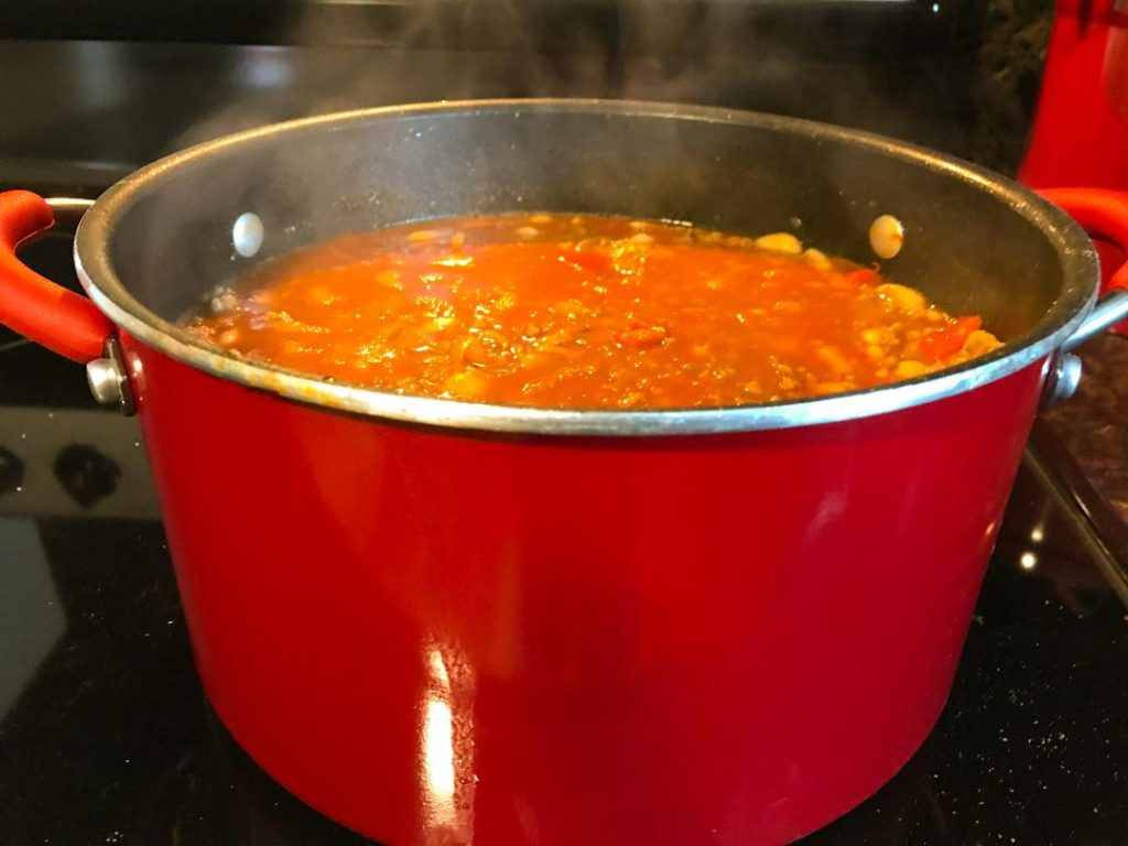 Adding Italian sausage to make Italian chili